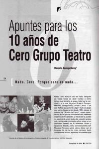 10 años de Cero Grupo Teatro